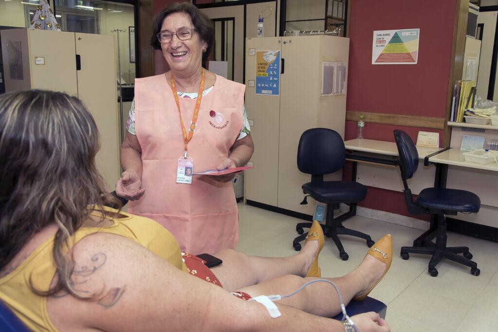 doação de sangue e plaquetas no INCA